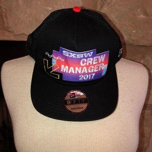 RARE SXSW Crew Manager 2017 NEW ERA Hat SnapBack